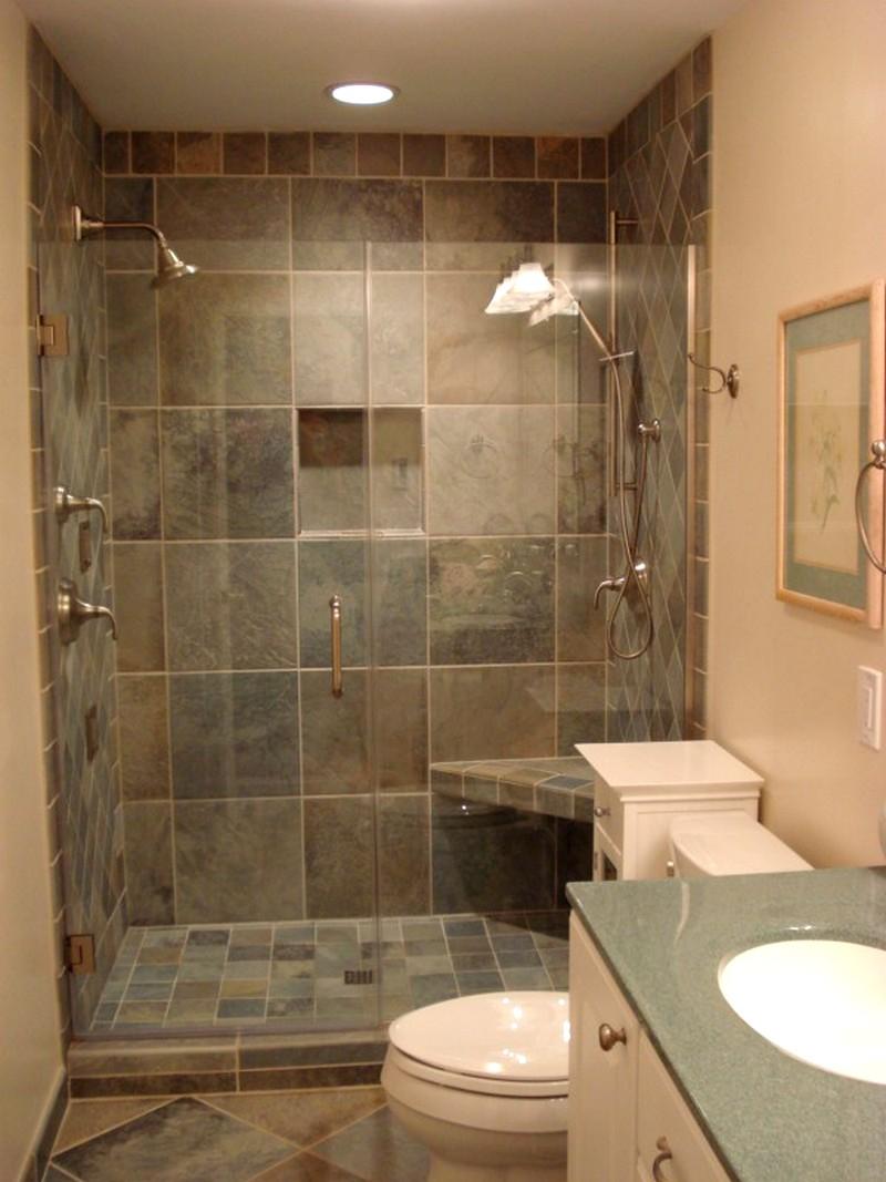 Интерьер ванной комнаты в бежевых тонах