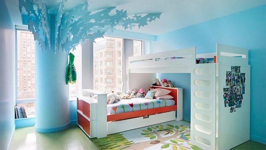 Декоративное дерево в комнате для девочки-подростка