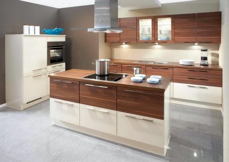 Кофейные цвета в кухонном интерьере