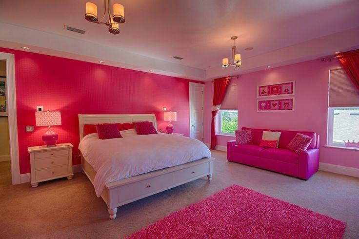 Любимый розовый цвет для спальни девочки