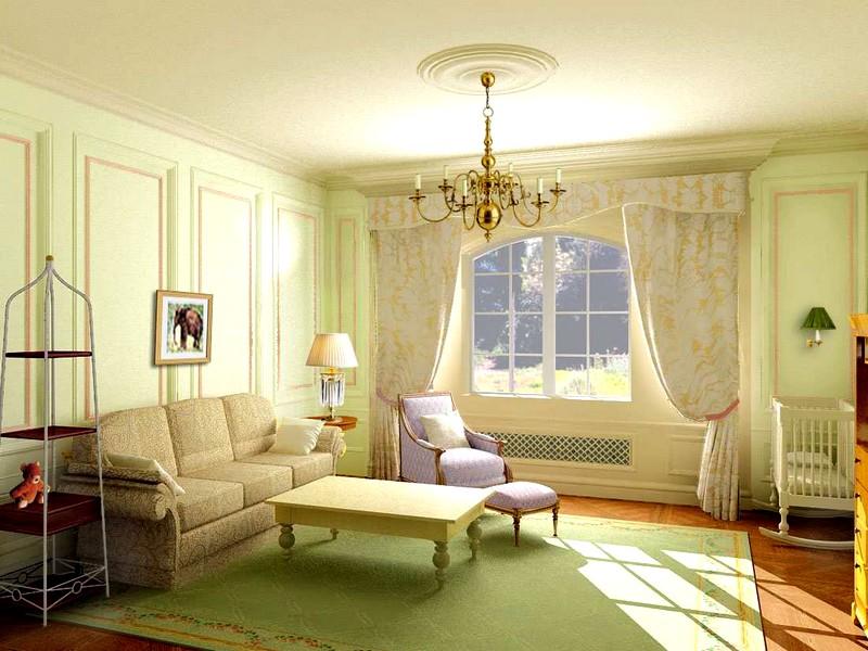 Мебель для оформления гостиной в светлых тонах