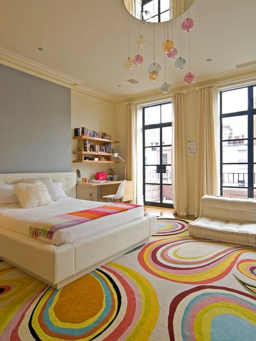 Превосходный интерьер спальни для юных девочек