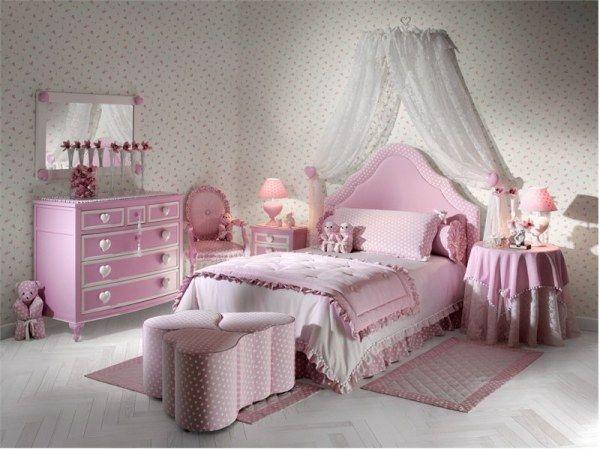 Розовая спальня для девочки 12 лет