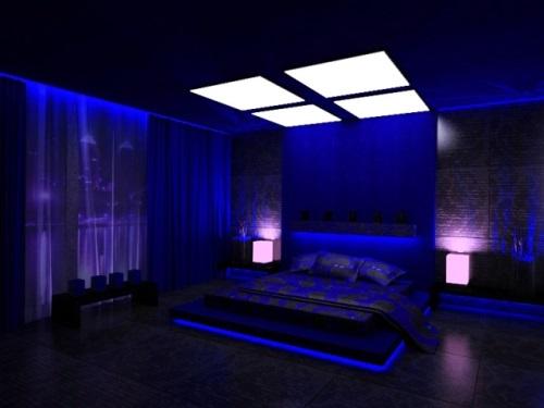 Световое освещение - неотъемлемая часть дизайна спальной комнаты