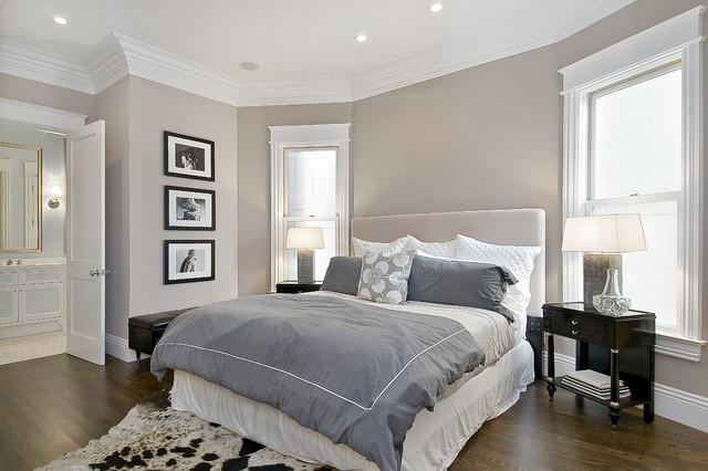 Спокойная светло-серая гамма - это простота и гармония в вашей спальне