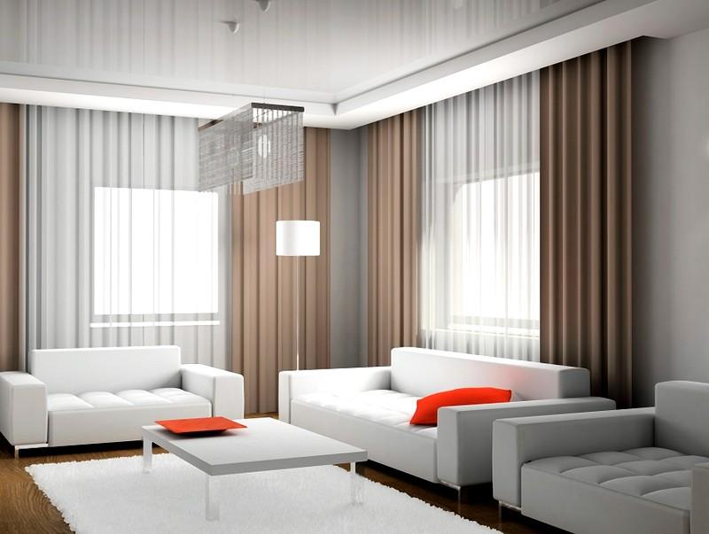 Элегантная и современная гостиная