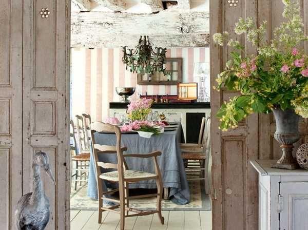 украшаем дом в стиле прованс живыми цветами и растениями