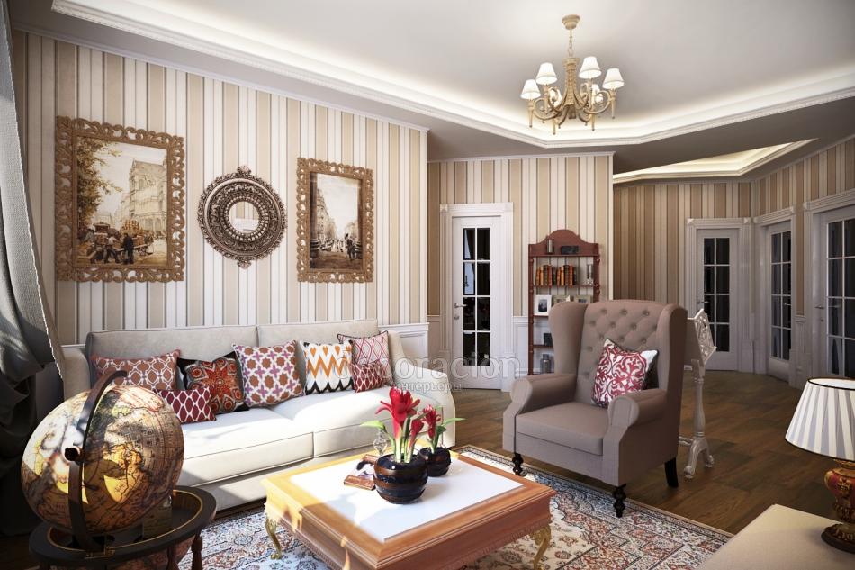 Изысканный английский стиль в интерьере квартиры