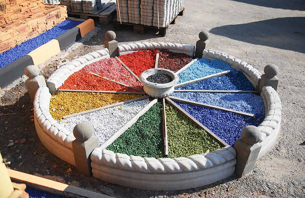Виды цветовой окраски декоративного щебня