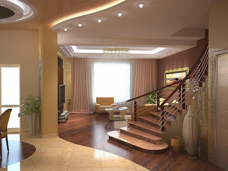 Дизайн интерьера частного дома внутри
