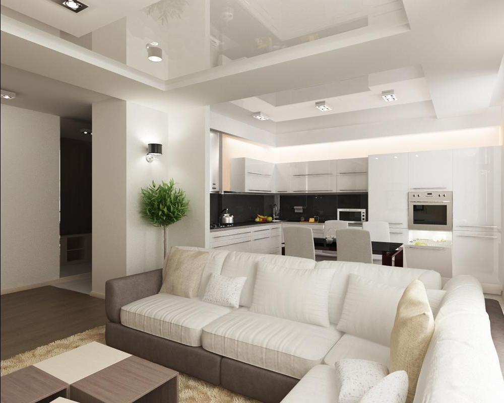 Зонирование кухни и гостиной в маленькой квартире