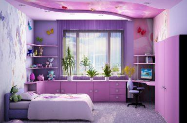 Дизайн спални для подростка-девочки