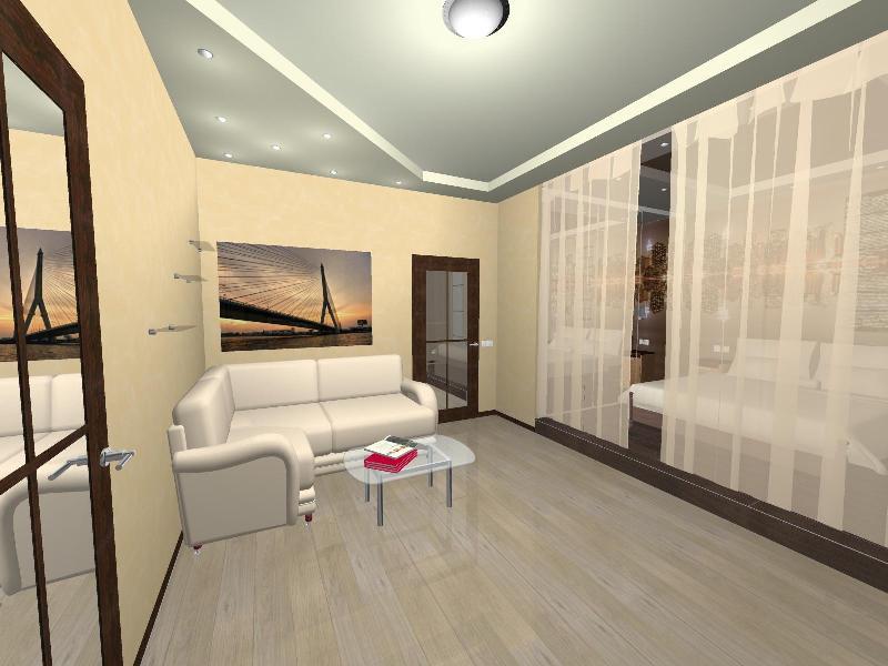 Практичное обустройство интерьера гостиной-спальни