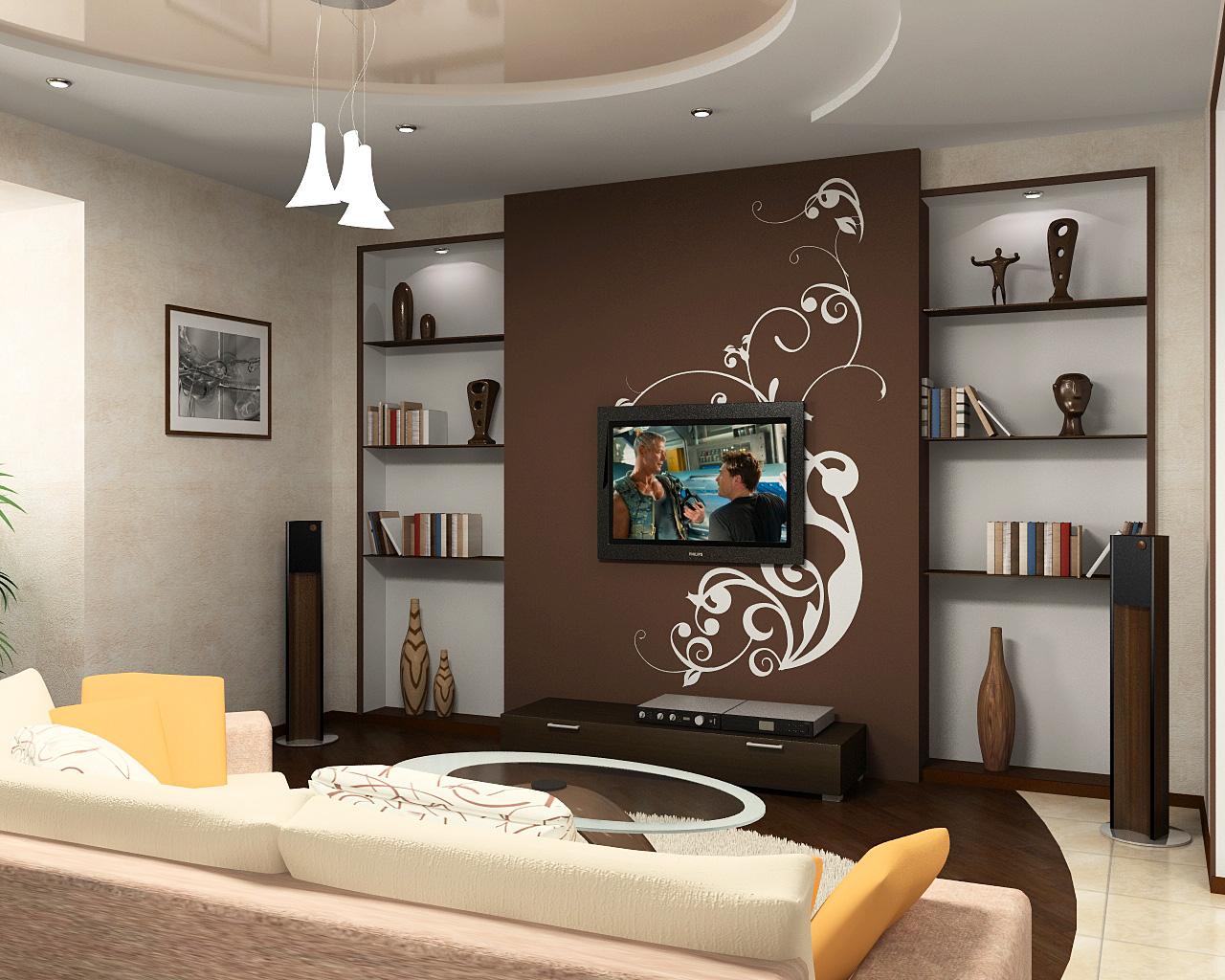 Комфортный интерьер гостиной в хрущевке