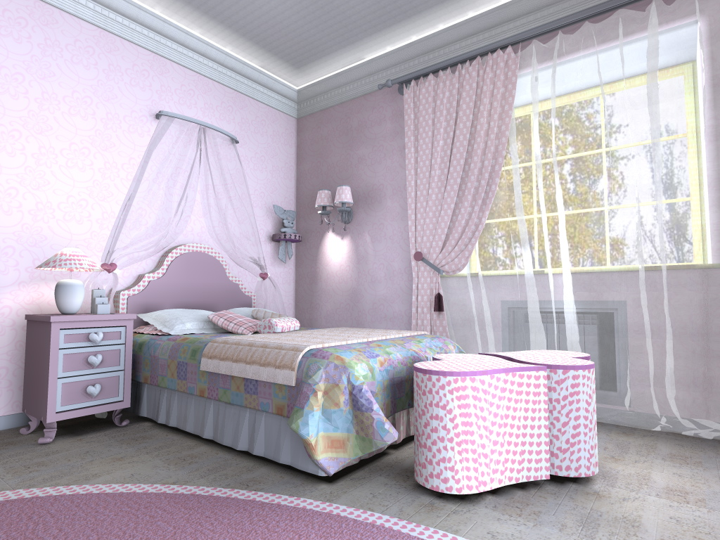 Изысканный дизайн комнаты для девушки