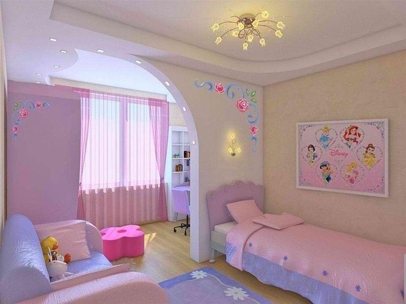 Современный дизайн детской комнаты для девочки: фото интерьеров