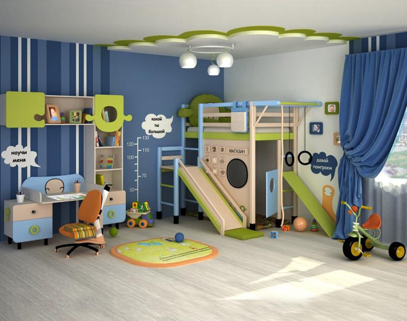 Интерьер детской комнаты для мальчиков: идеи, советы, фото