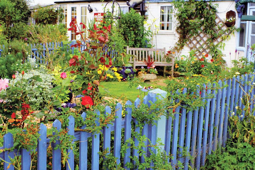 В деревенских садах очень уместны будут различные садовые емкости