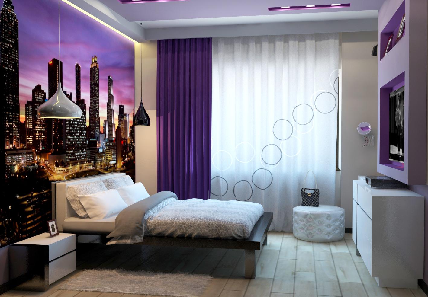 Уютный дизайн комнаты для девушки