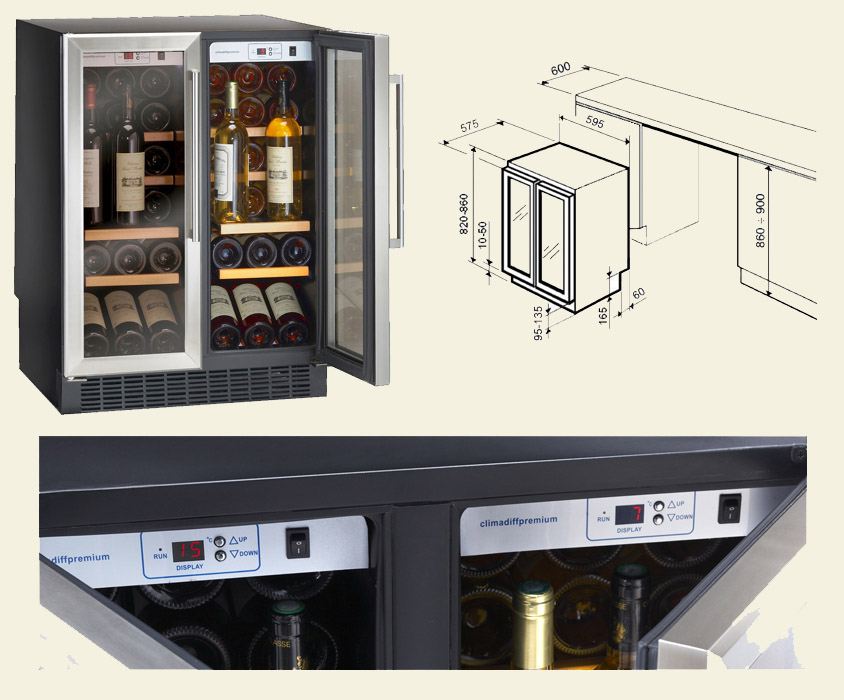Размеры небольшого винного холодильника