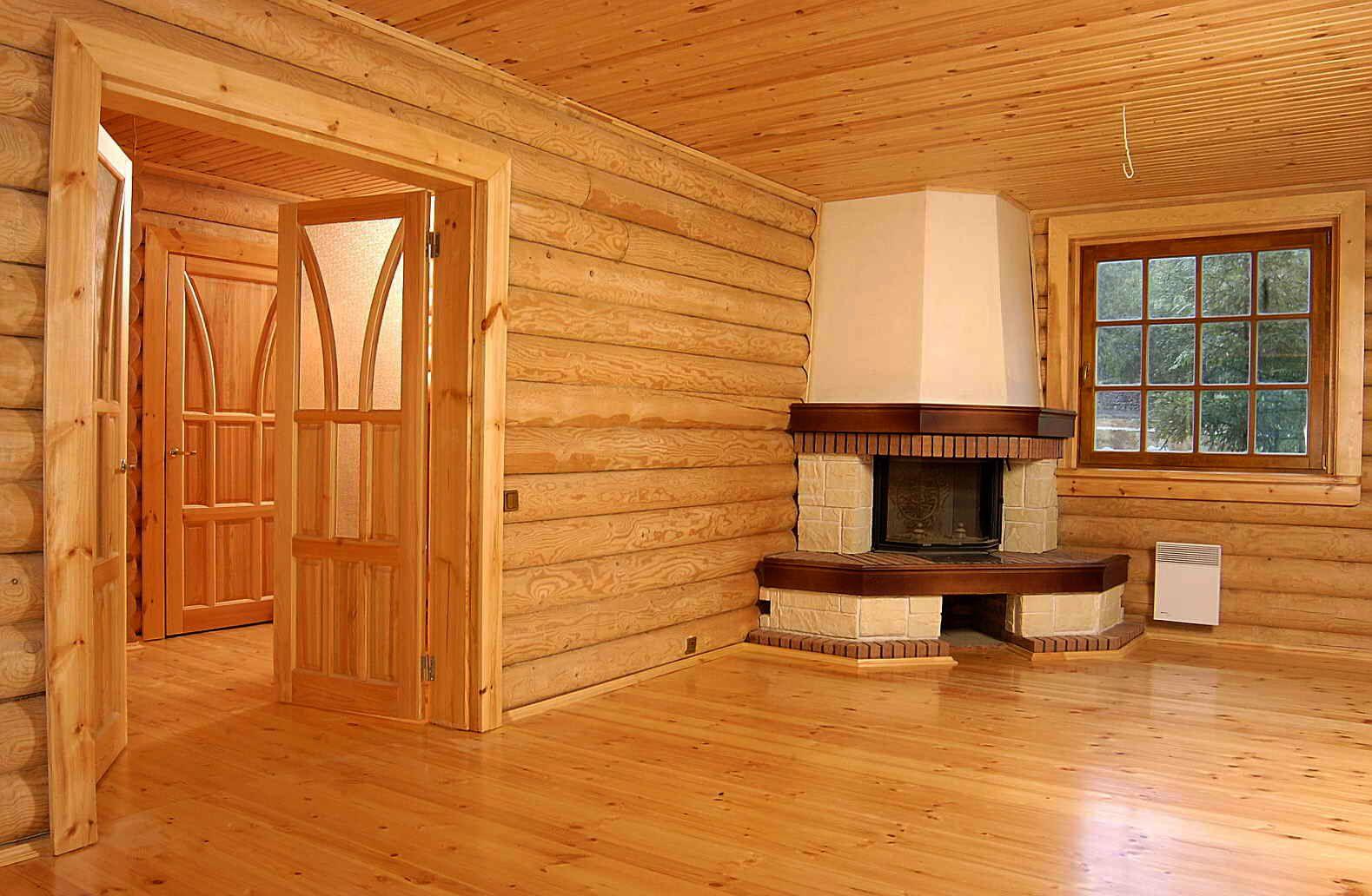 Внутренняя отделка дома из газобетона деревом