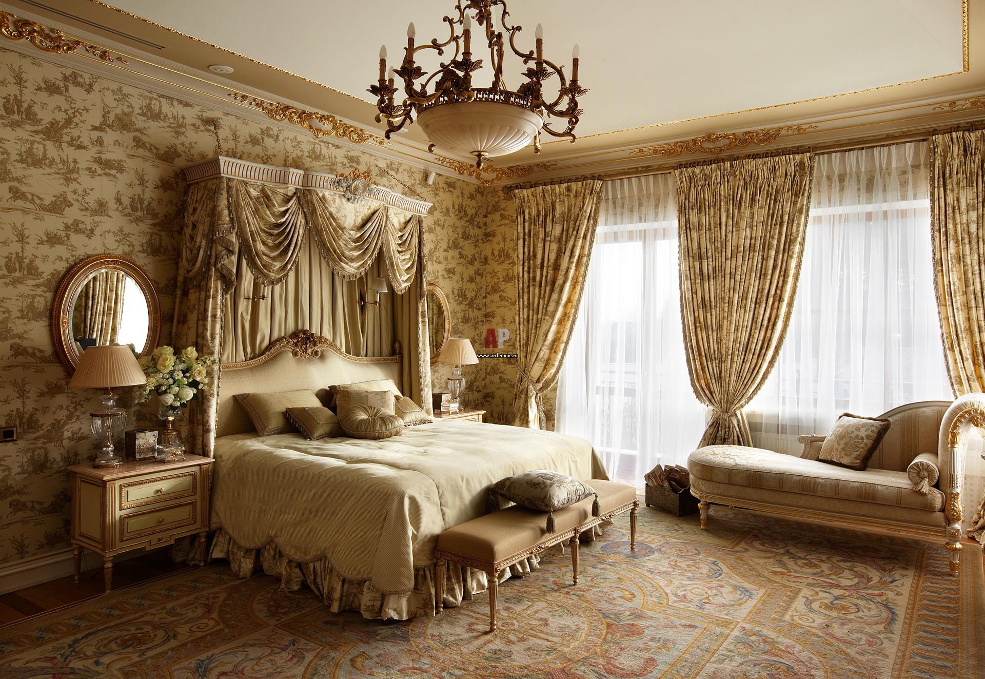 Английский стиль оформления интерьера спальни
