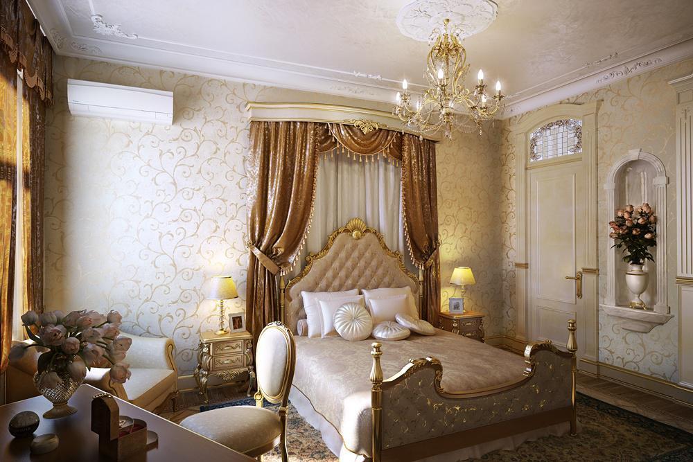 Шикарное оформление спальни в английском стиле