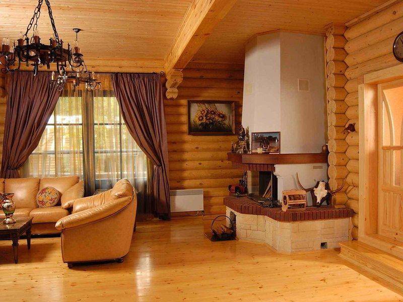 Примеры внутренней отделки стен дома из бруса: описание, фото