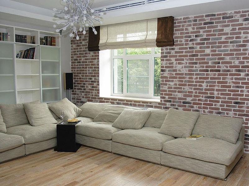 Использование декоративного кирпича в интерьере помещения