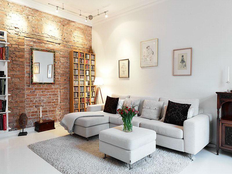 Отделка стен помещения декоративным кирпичом