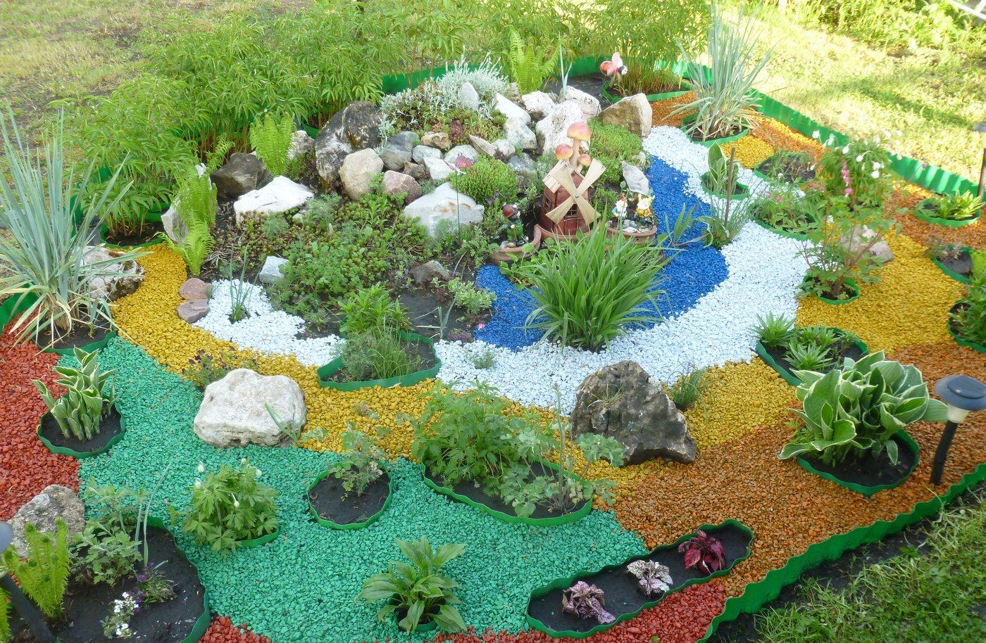 Декорация садового участка с помощью щебня