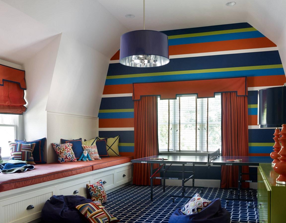 Дизайн детской комнаты для мальчиков с игровой зоной