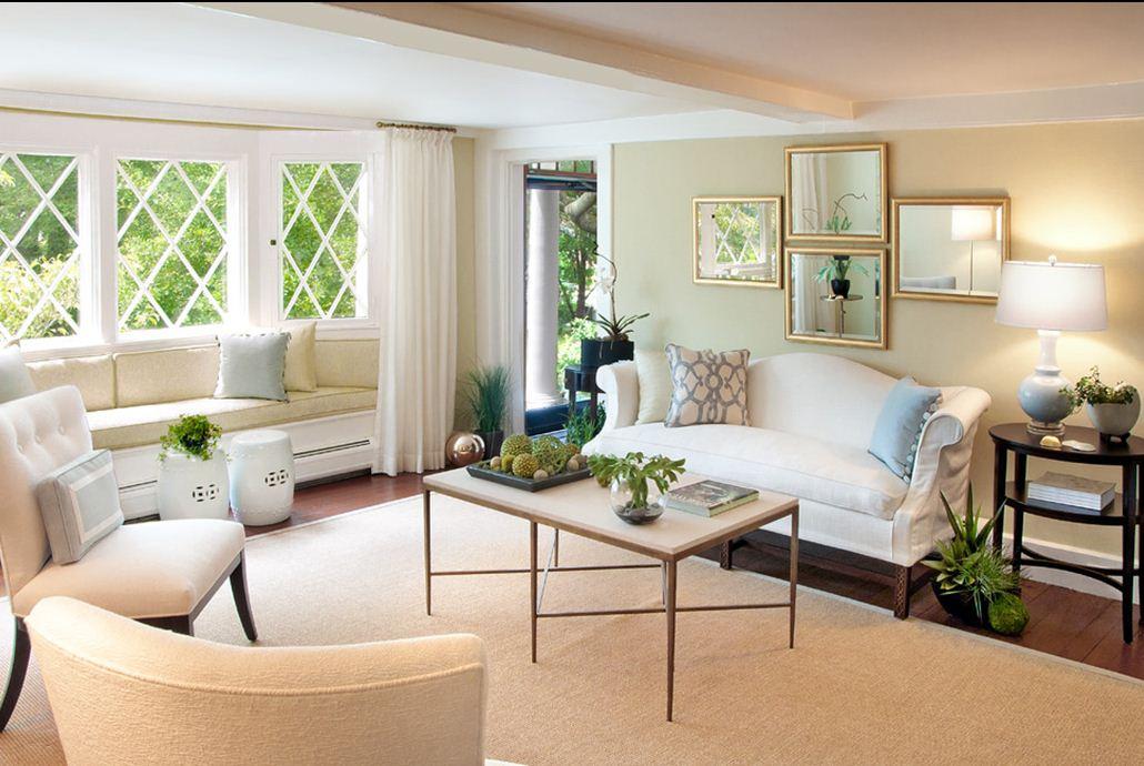 Одноцветное оформление интерьера внутри частного дома