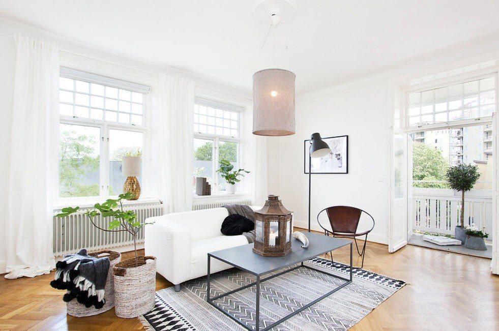 Дизайн пространства внутри частного дома в скандинавском стиле