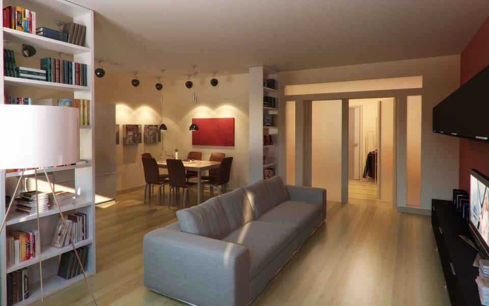 Зонирование частного дома с помощью освещения