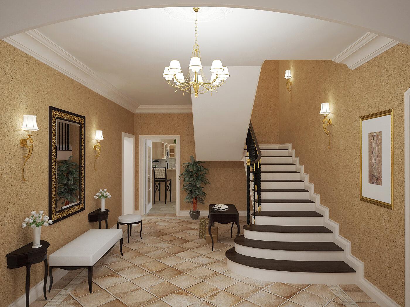 Оформление интерьера частного дома в пастельных оттенках
