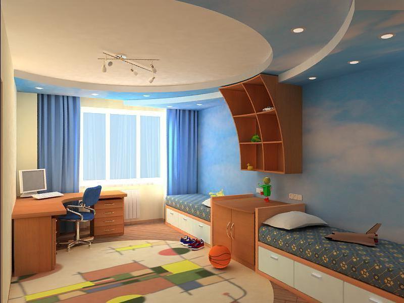 Просторная детская комната для мальчиков