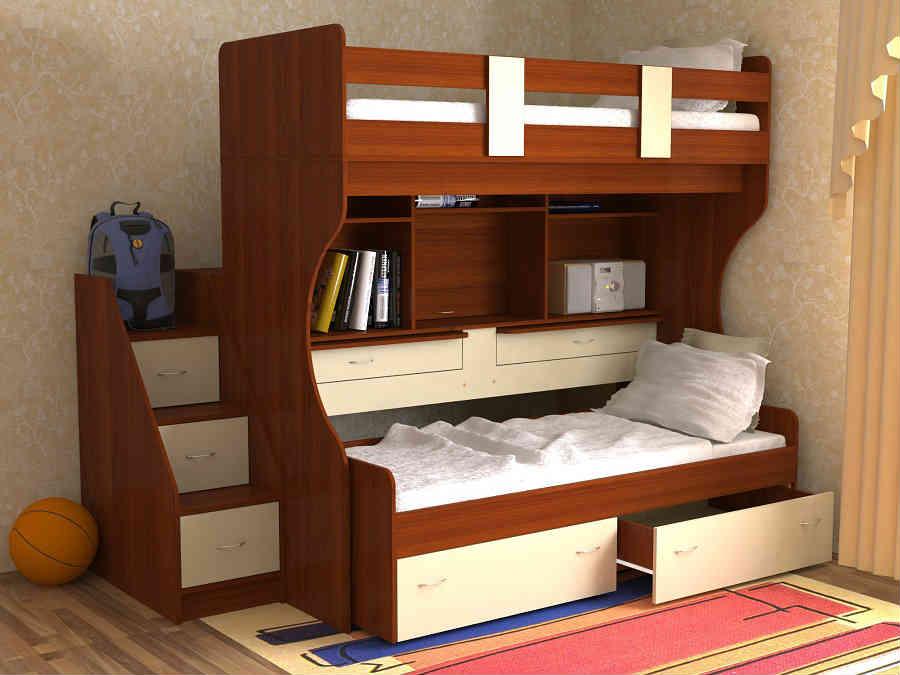 Двухъярусная кровать для двух мальчиков