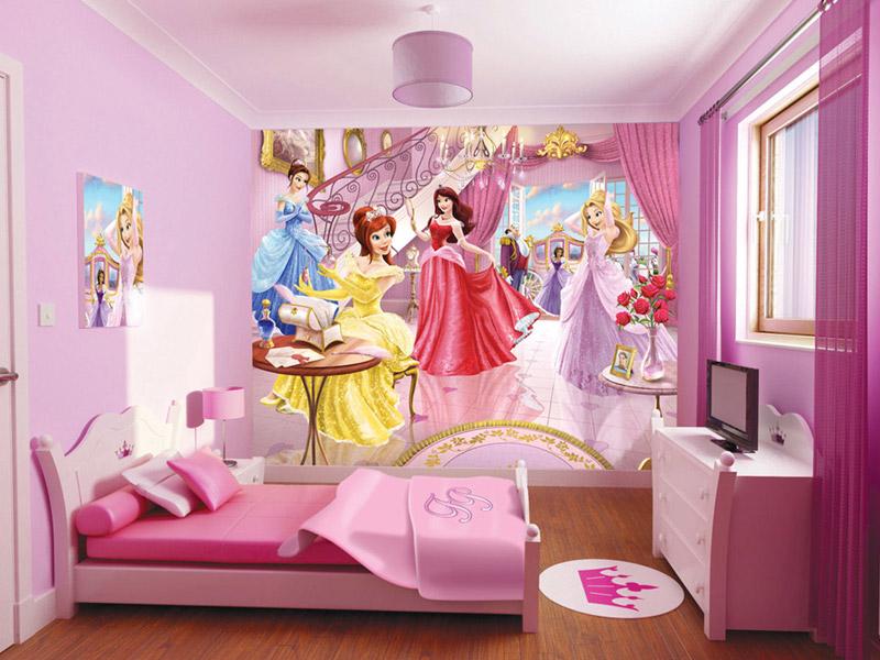 Дизайн детской комнаты для девочки с принцессами