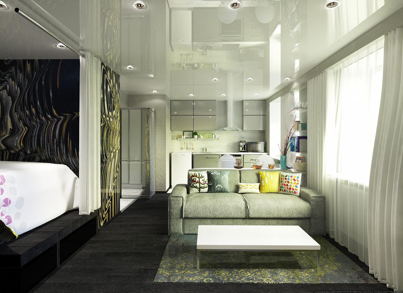 Стильный и функциональный дизайн маленькой квартиры