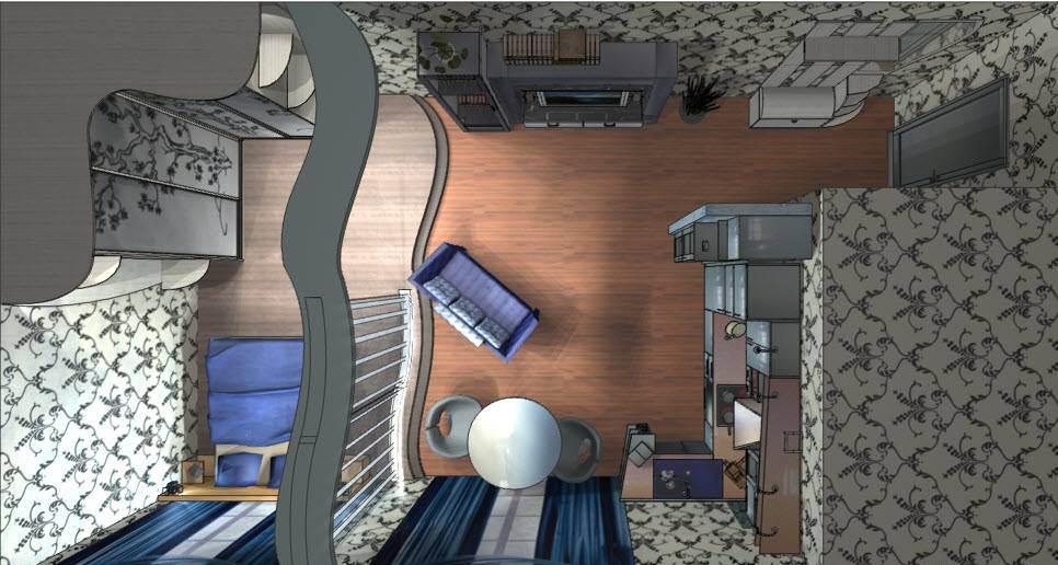 Обои с орнаментом в интерьере квартиры в хрущевке