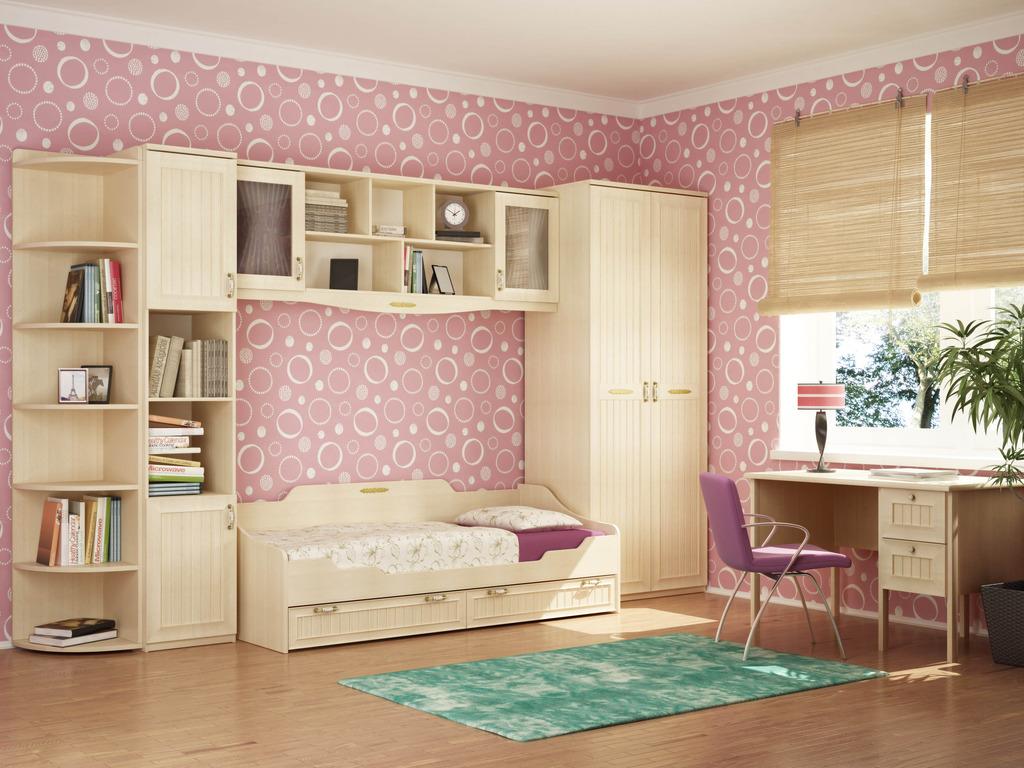 Дизайн комнаты для девушки с цветами