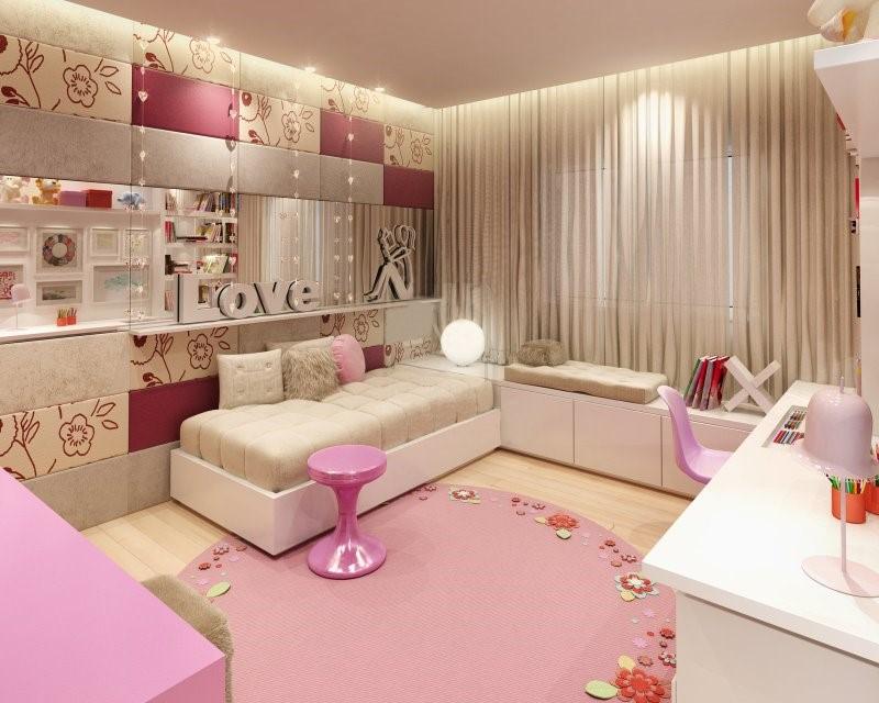 Романтический дизайн комнаты для девочки-подростка