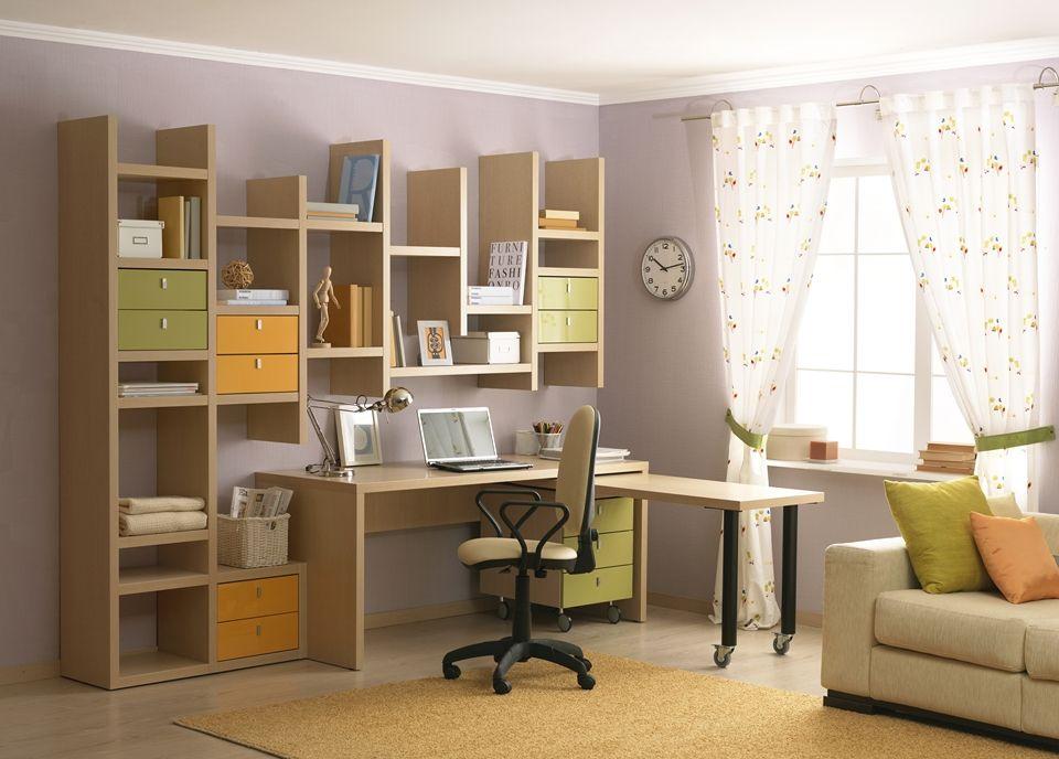 Мебель со стеллажами для девочки-подростка