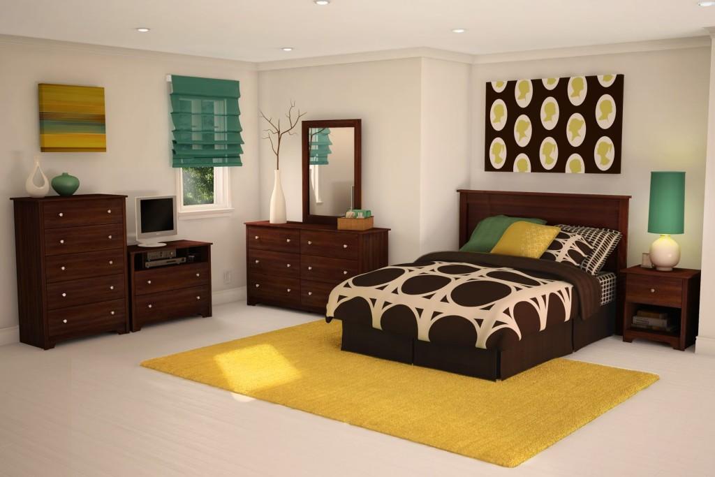 Мебель из дерева в комнате для девочки-подростка