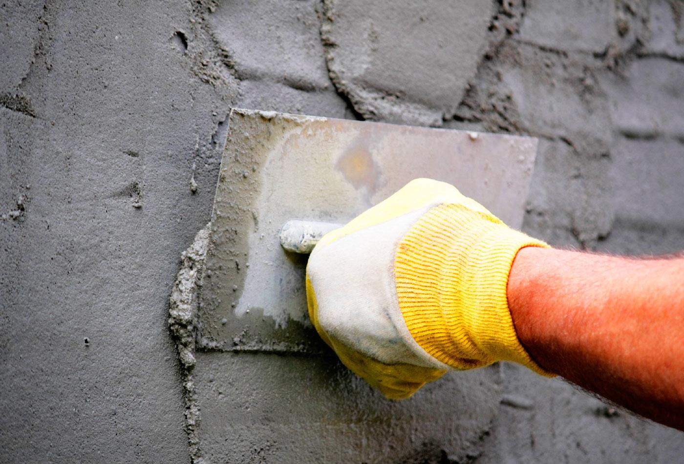 Покрытие частного дома цементом