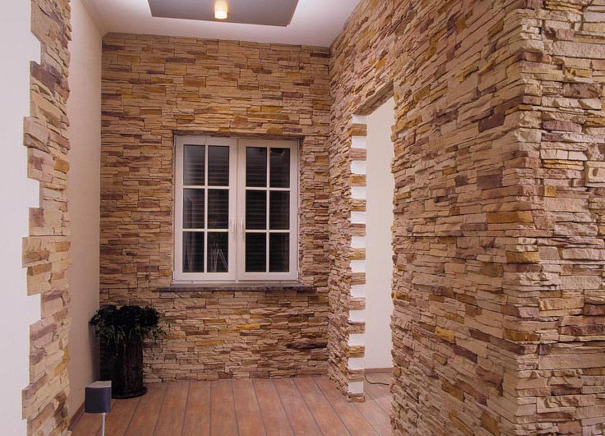 Внутренняя отделка дома из СИП панелей искусственным камнем