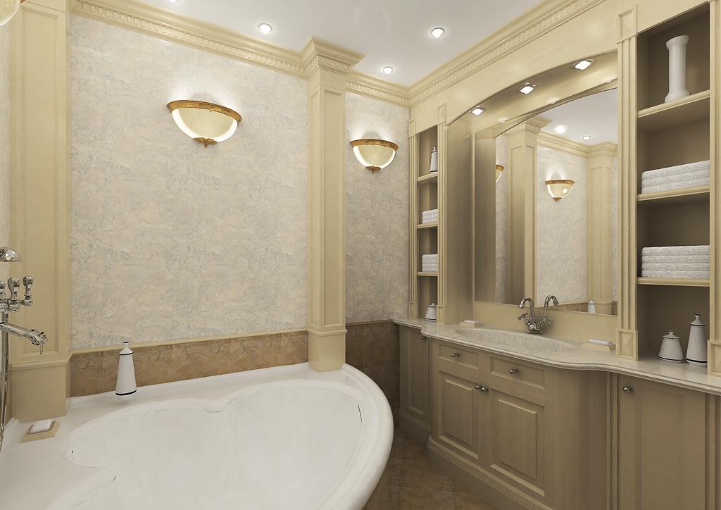 Полиуретан в декоре ванной комнаты