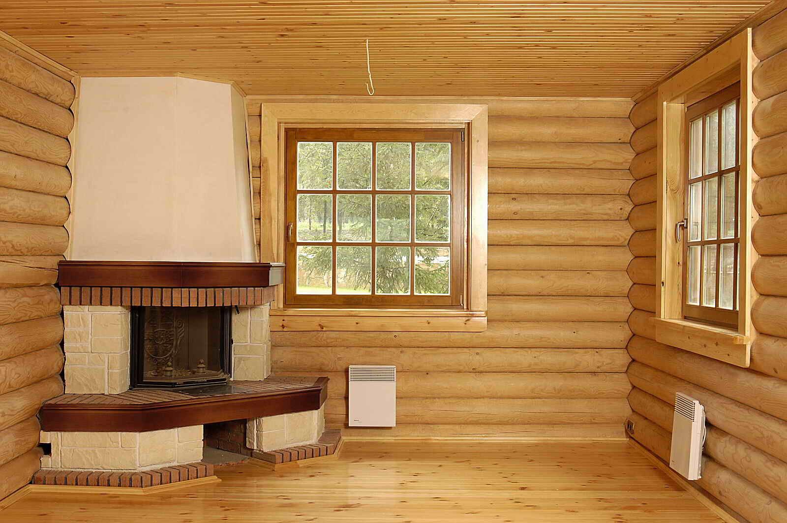 Внутренняя отделка деревянного дома блокхаусом