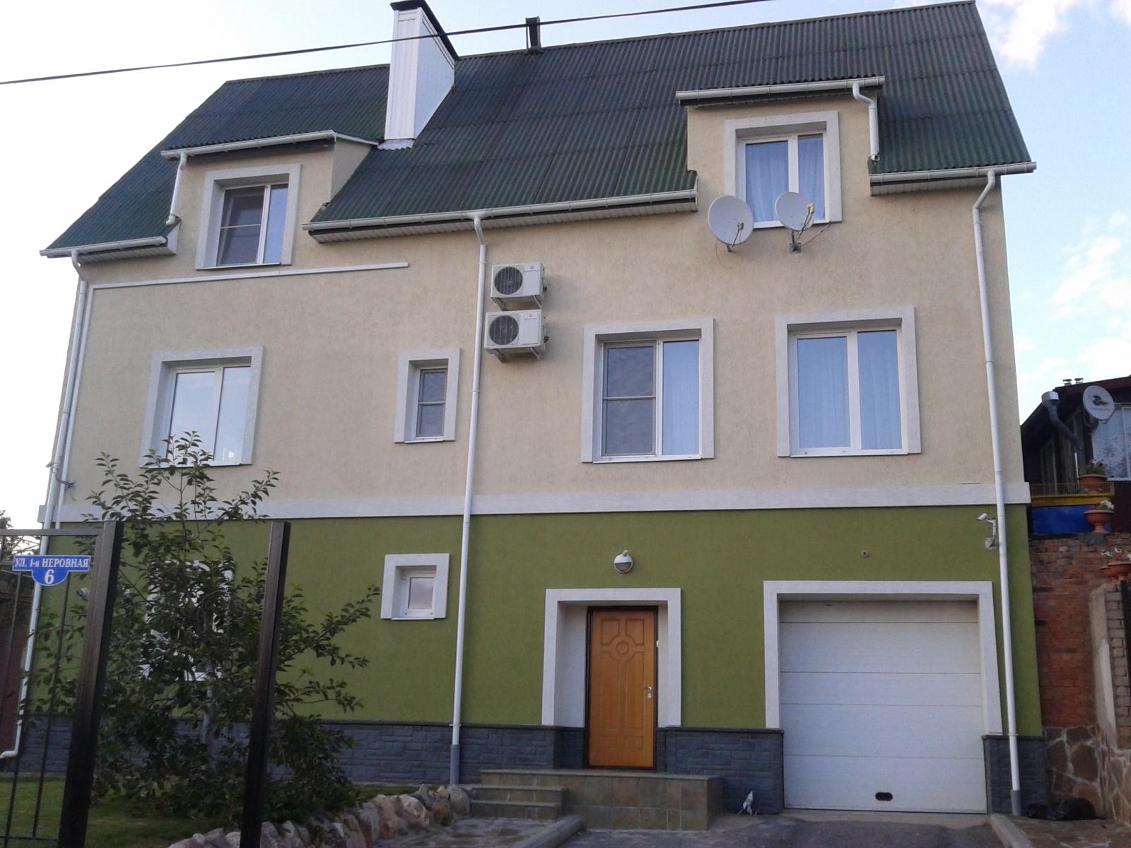 Покраска дома из пеноблоков специальными красками